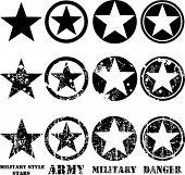 Estrelas militares de vetores