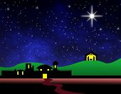 stock photo of nativity scene  - Bethlehem background - JPG