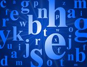stock photo of alphabet letters  - Alphabet letters - JPG