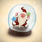Santa Claus In Snowball