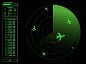 Radar screen.Vector illustration AI8 compatible.