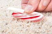 Candy Cane Stuck To Carpet