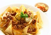 Delicious Mexican Nachoes appetizer