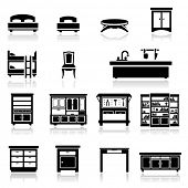 Icons set home furniture
