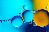 Space Or Planets Universe Cosmic Abstract Background. Abstract Molecule Atom Sctructure. Water Bubbl poster