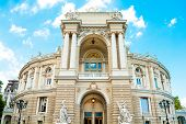 The Odessa National Academic Theater Of Opera And Ballet Is The Oldest Theater In Odessa, Ukraine. T poster