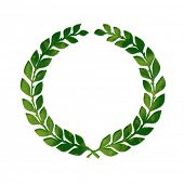 Laurels Symbol made of Realistic Green Grass. An Eco Friendly Concept.
