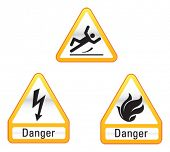 Danger Icon Set