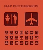 Map Pictographs icons set