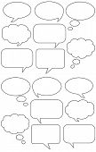 Cartoon Speech And Talk Bubbles