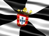 foto of ceuta  - Flag of Ceuta computer generated illustration with silky appearance and waves - JPG