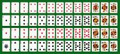 Full deck - Original Designs. Standard size. Ace of spade and faces original design