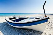 Colourful dinghy, beach resort