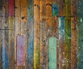 Colorful Old Wooden Floor Or Wall