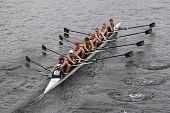 BOSTON - OCTOBER 23: La Salle College High School youth men's Eights races