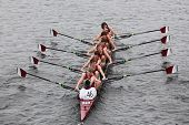 BOSTON - OCTOBER 23: Lowell High School youth men's Eights races