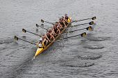 BOSTON - OCTOBER 23: Cleveland's Saint Ignatius HS youth men's Eights races in the Head of Charles R