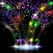 picture of new years celebration  - Colorful stars for New year - JPG