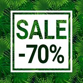 Sale Banner With Text. Seasonal Promotion Advertising. Season Discount Poster. Special Offer Coupon. poster