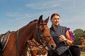 Caballo y Equestrienne