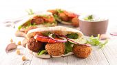 sandwich with falafel and vegetable poster