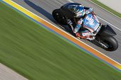 VALENCIA, SPAIN - NOVEMBER 9: Johnny Hernandez in the official motogp test with new 1.000cc engines,
