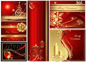 picture of happy new year 2013  - Merry Christmas and Happy New Year collection gold and red - JPG