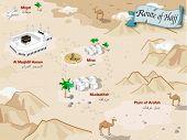 Route of Hajj of Arabia