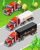 Isometric Big Truck Detailed