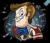 Hacker. Cartoon Series