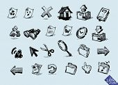 Internet Icon series. Sketch Series