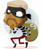 Criminal Thief Activity. Detailed vector Illustration.