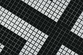 Black And White Small Square Bathroom Floor Tile With Modern Pattern. Top View Of Bathroom Wall Tile poster