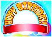 Birthday banner for male celebrant
