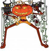 Halloween pumpkin in vector illustration
