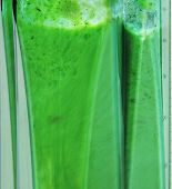 Green Smoothie. Blending Ingredients For Green Smoothie Closeup. Ingredients Such As: Sprouts Spinac poster