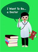 Boy With Stethoscope With Professional Aspirations In Medicine poster