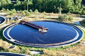 stock photo of aeration  - Industrial sewage water treatment station in factory - JPG