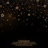 Falling Stars Background, Falling Stars, Vector.light Curtain. Vector Illustration.golden Dust Eleme poster