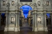 image of vicenza  - The stage of Teatro Olimpico interior in Vicenza Italy - JPG