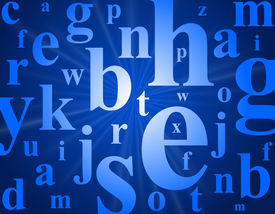 stock photo of alphabet letters  - Alphabet letters - JPG