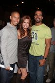 LOS ANGELES - MAR 24:  Bryton James, Tracey E Bregman, Kristoff St John at the Young & Restless 38th