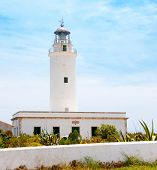 La Mola lighthouse in Formentera in Balearic islands poster