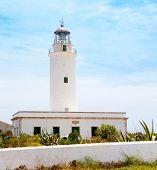 foto of mola  - La Mola lighthouse in Formentera in Balearic islands - JPG