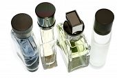 image of perfume bottles  - Mens Perfume and fragrances isolated in white - JPG