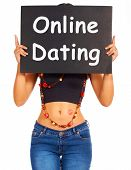 Online Dating Board Showing Web Romance