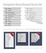 Folded navigation menu