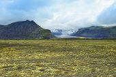 Lanscape Of Southern Iceland, National Park Vatnajokull