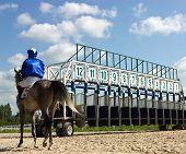 Start gates for horse races.