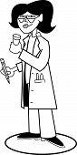 Mulher feminina médico médico Clip-Art
